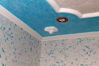 Жидкие обои на потолок