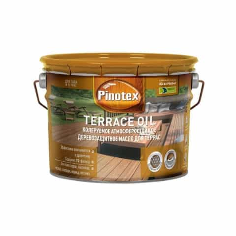 Масло для террас Pinotex Terrace Oil бесцветный 10 л